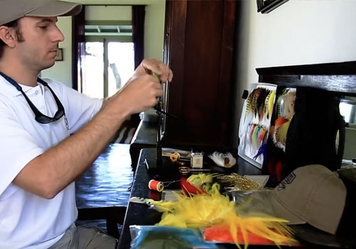 Golden Dorado Fly Tying at San Javier Lodge